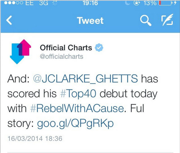 Ghetts Official Charts
