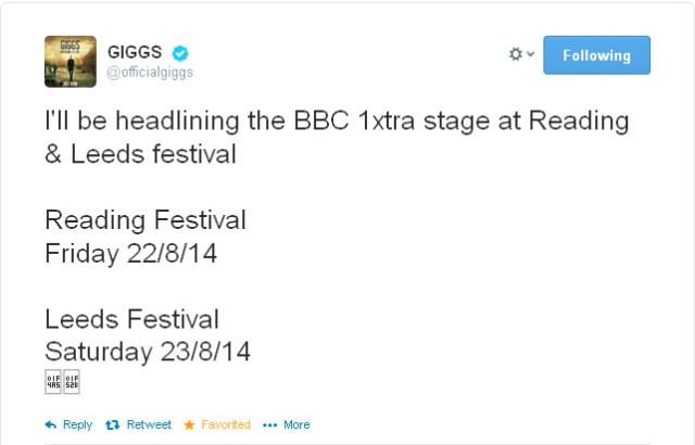 Giggs festivals