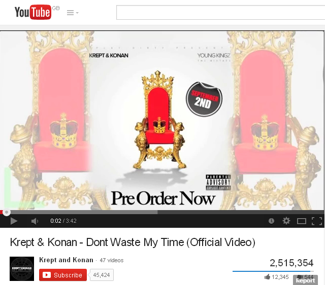Krept   Konan   Dont Waste My Time  Official Video    YouTube