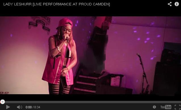 BRITHOPTV- [Live Performance] Lady Leshurr ( @LadyLeshurr) live at Proud Camden ( @ProudCamden) - #UKHipHop UK Rap