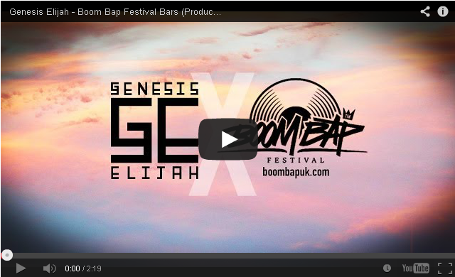 BRITHOPTV- [Music Video] Genesis Elijah ( @GenesisElijah) – 'Boom Bap Festival Bars' (Produced by Raph Stormwalker) - UK Rap UK HipHop.p