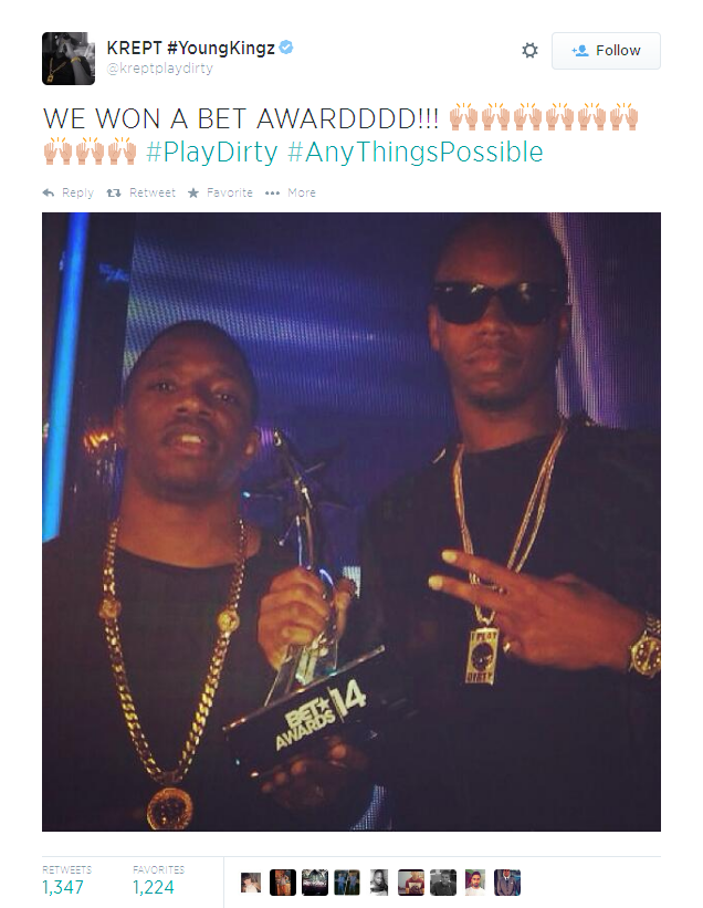 BRITHOPTV: [News] Krept & Konan win Best International Act (UK) at The BET Awards 2014. | #UKHipHop #UKRap