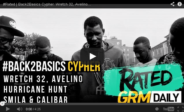 BRITHOPTV- [Freestyle Video] #Rated - Back2Basics Cypher- Wretch 32, Avelino, Hurricane Hunt, Smila & Calibar [GRM Daily] - #UKRap #UKHipHop