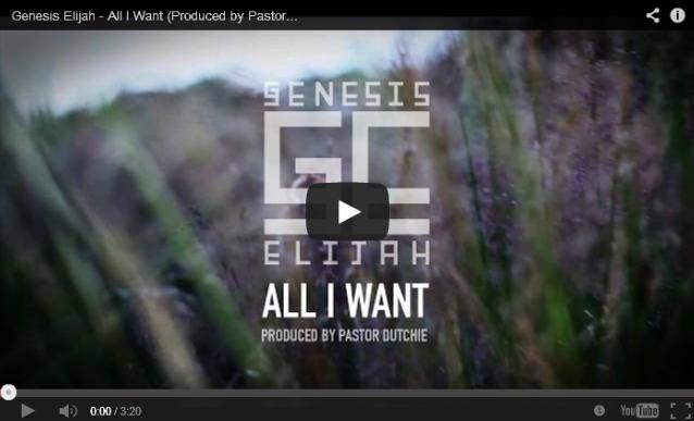 BRITHOPTV- [Music Video] Genesis Elijah ( @GenesisElijah) – 'All I Want (Prod. @PastorDutchie)' - #UKRap #UKHipHop