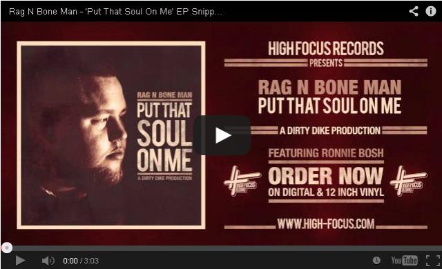 BRITHOPTV- [New Music] Rag N Bone Man (@RagNboneManuk) – 'Put That Soul On Me' EP Snippets' (Prod. Dirty Dike)' - #UKRap #UKHipHop.