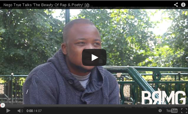 BRITHOPTV- [Video Interview] Nego True (@NegoTrue) Talks 'The Beauty Of Rap & Poetry' - [@BlueReignMG]- #UKRap #Poetry