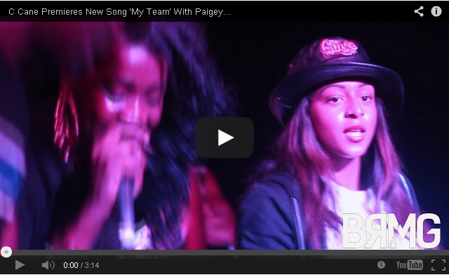BRITHOPTV: [Live Performance] C Cane (@OfficialCCane) Premieres New Song 'My Team' With Paigey Cakey (@Paigey_Cakey) Live [@BlueReignMG] | #UKRap #UKHipHop