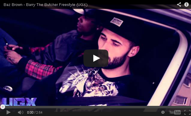 BRITHOPTV: [Freestyle Video] Baz Brown (@GsBazBrown) - #BarryTheButcher Freestyle [ @UGXposure] | #UKRap #UKHipHop