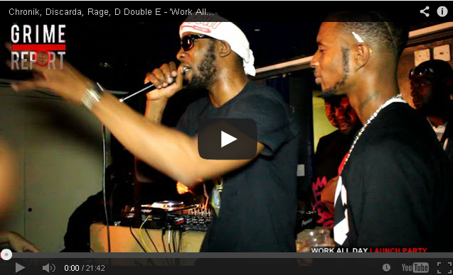 BRITHOPTV: [Live Performance] Chronik (@DaRealChronik), Discarda (@Discarda), Rage (@RageSlewMafia), D Double E (@DDoubleE7) - 'Work All Day' Launch Party (21/8/2014) [Part 2] | #Grime
