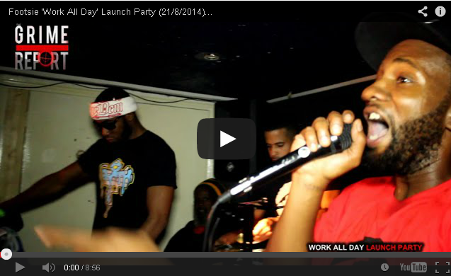 BRITHOPTV: [Live Performance] Footsie (@Footsie) 'Work All Day' Launch Party (21/8/2014) [Part 1] | #Grime