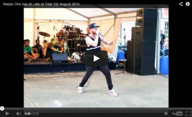 BRITHOPTV: [Live Performance] Reeps One live at Late at Tate 1st August 2014 | #UKHipHop #Beatbox