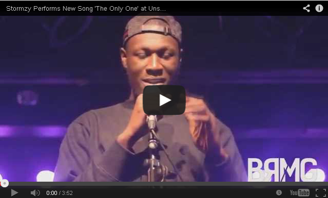 BRITHOPTV: [Live Performance] Stormzy (@Stormzy1) Performs New Song 'The Only One' at Unsigned Stars [@BlueReignMG] | #UKRap #UKHipHop