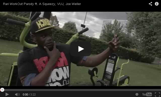 BRITHOPTV: [Music Video] A Squeezy - 'Rari WorkOut Parody Ft. VUJ, Joe Weller' | #UKRap #UKHipHop