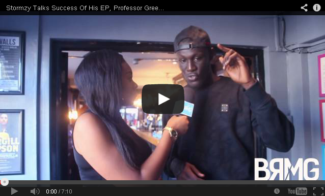 BRITHOPTV: [Video Interview] Stormzy (@Stormzv1) Talks Success Of His EP, Professor Green (@ProfessorGreen) & Fekky (@FekkyOfficial) Collab & Unsigned Stars [@BlueReignMG] | #UKRap #UKHipHop