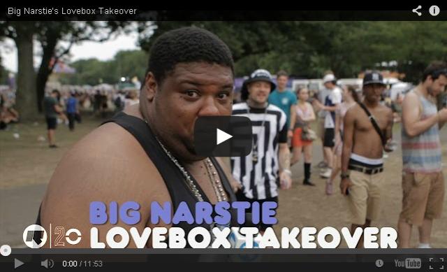 BRITHOPTV: [Behind The Scenes] - Big Narstie (@BigNarstie) takes Rinse TV around Lovebox 2014 at London's Victoria Park | #Grime #UKRap