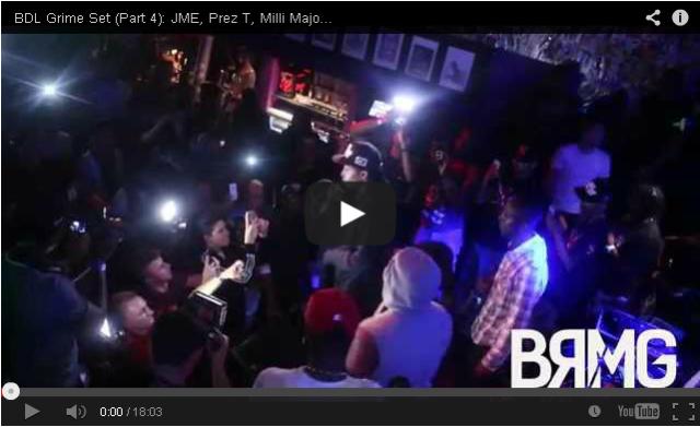 BRITHOPTV: [Live Performance] BDL Grime Set: JME (@JMEBBK), Prez T (@Prez_T), Milli Major (@MajorB2DAL) & Scufizzer (@Scrufizzer), (Part 4) [@BlueReignMG] | #Grime