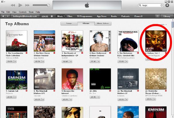 BTR no 6 iTunes Albums JP