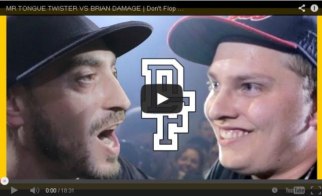 BRITHOPTV: [Battle Video] Mr. Tongue Twister (@MrTongueTweeter) Vs Brian Damage [@DontFlop] | #UKHipHop #UKBattleRap