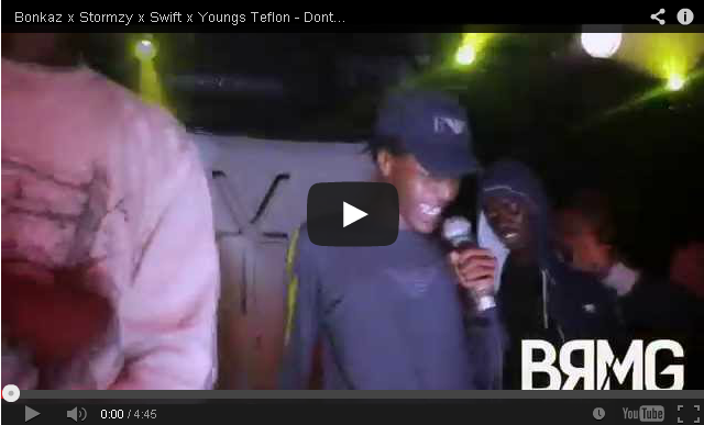 BRITHOPTV: [Live Performance] Bonkaz (@OfficialBonkaz) x Stormzy (@Stormzy1) x Swift (@SwiftSqueeze4p) x Youngs Teflon (@YoungsTeflon) - 'Dont Waste My Time' (Live) [@BlueReignMG] | #UKRap #UKHipHop