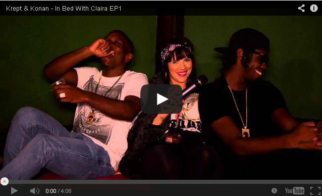 BRITHOPTV- [Video Interview] Krept (@KreptPlayDirty) & Konan (@KonanplayDirty) – In Bed With Claira (@ClairaHermet) EP1 - #UKRap #UKHipHop