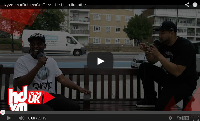 BRITHOPTV- [Video Interview] @KyzeOfficial on #BritainsGotBarz - He talks life after prison, Kyze AM, being an orphan, SN1 + More - HDVSN - #UKRap #UKHipHop