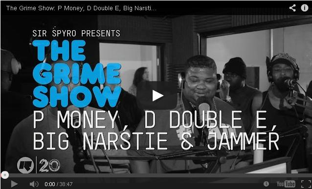 BRITHOPTV- [Video Set] P Money (@KingPMoney), D Double E (@DDoubleEE7), Big Narstie (@BigNarstie) & Jammer (@JammerBBK) on @SirSpyro #GrimeShow [@RinseFM] - #Grime