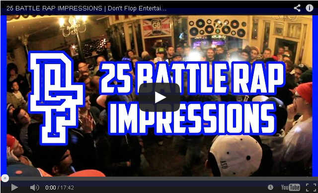 BRITHOPTV- [Battle Video] 25 Battle Rap impessions [@DontFlop] - #UKHipHop #UKBattleRap