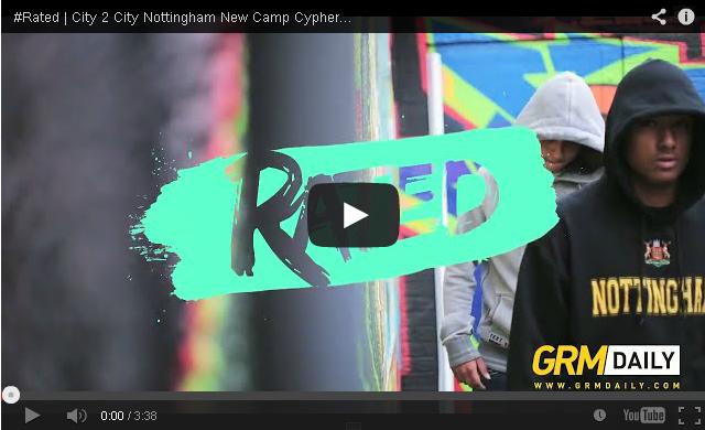 BRITHOPTV- [Freestyle Video] @Kyeza_ @Kamarofficial @Jdotnotts – ' #Rated City 2 City – New Camp Cypher #Nottingham [GRMDaily] - #Grime #UKRap