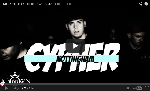 BRITHOPTV- [Freestyle Video] #NOTTINGHAMCYPHER – Hectic, Kazor, Adzz, Poet, Rellik, Mossie, Hibbz & J General [@KrownMediaHD] - #Grime