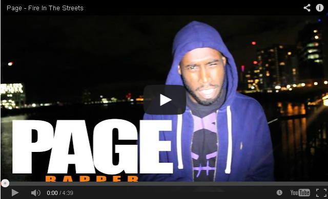 BRITHOPTV- [Freestyle Video] Page (@Page_Artist) – ' #FireInTheStreets' [ @CharlieSloth] - #UKRap #UKHipHop