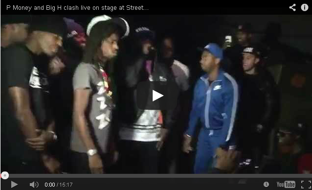 BRITHOPTV- [Live Clash] P Money (@KingPMoney) and Big H (@BigHOfficial) clash live on stage at Streetlife! BDL Tour LOTM - #Grime #GrimeClash.