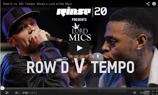 BRITHOPTV- [Live Clash] Row D (@Row_D_N3) vs. MC Tempo (@Tempoartist )- Rinse (@RinseFM) x Lord of the Mics (@LordoftheMics) - #Grime #GrimeClash.