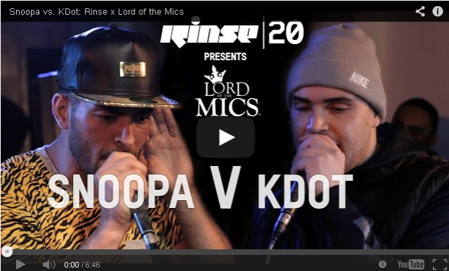 BRITHOPTV- [Live Clash] Snoopa (@snoopaofficial) vs. KDot (@Kdot_Manny)- Rinse (@RinseFM) x Lord of the Mics (@LordoftheMics) - #Grime #GrimeClash