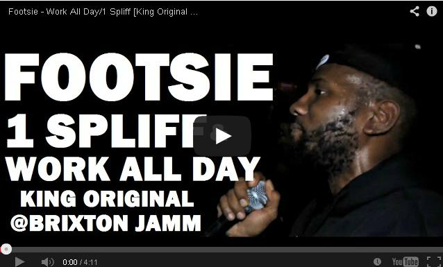 BRITHOPTV- [Live Performance] Footsie (@Footsie) Work All Day-1 Spliff [King Original @ Brixton Jamm] - #Grime.