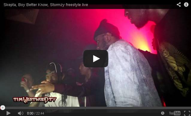 BRITHOPTV- [Live Performance] Skepta (@Skepta) Boy Better Know, Stormzy freestyle live [@TimWestwood TV] - #Grime