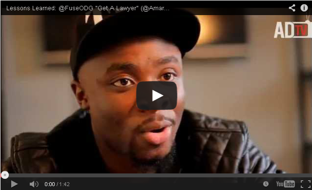 "BRITHOPTV- [Music Business Advice] Lessons Learned- @FuseODG ""Get A Lawyer"" [@AmaruDonTV] - #Afrobeat #MusicBusiness."