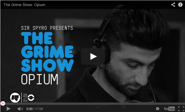 BRITHOPTV- [Video Set] Opium (@OpiumArtist) on @SirSpyro #GrimeShow [@RinseFM]- #Grime
