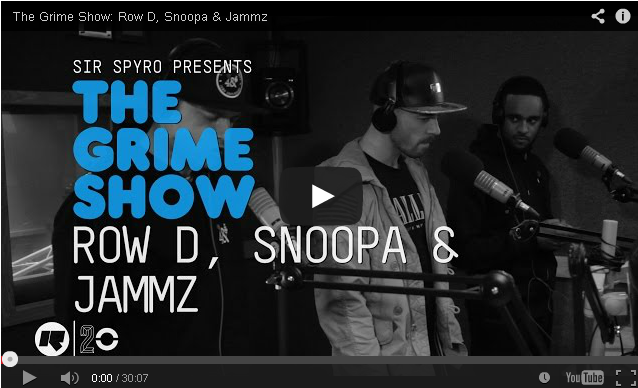 BRITHOPTV- [Video Set] Row D (@Row_D_N3), Snoopa (@snoopaofficial), & Jammz (@Jammz) on @SirSpyro #GrimeShow [@RinseFM] - #Grime.