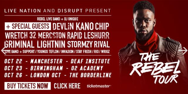 BRITHOPTV: [Music News /Events] Tickets for Ghetts (@JClarke_Ghetts) 'Rebel' #RWAC tour go on sale   #Grime #UKRap