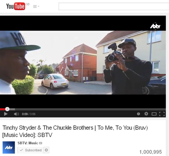 BRITHOPTV: [Music News] Tinchy Stryder  (@TinchyStryder)  x Chuckle Brothers (@PaulChuckle2) -' To Me, To You (Bruv)' hits 1 Million YouTube views | #MusicNews #UKRap #Grime