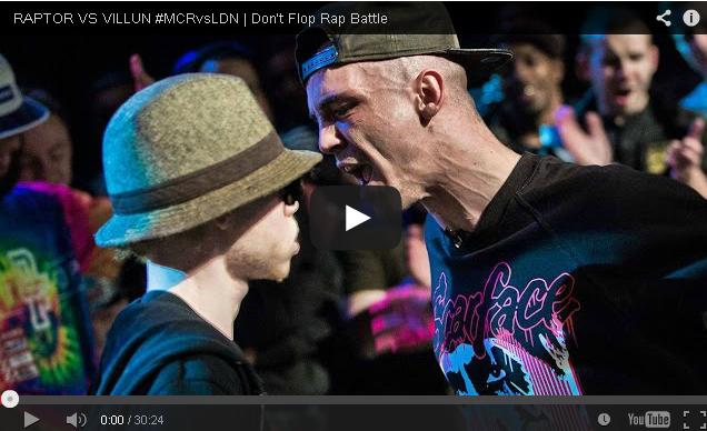 BRITHOPTV- [Battle Video] Raptor (@RaptorWarhurst) Vs Villun (@tenfsvill) #MCRvsLDN [@DontFlop] - #UKHipHop #UKBattleRap