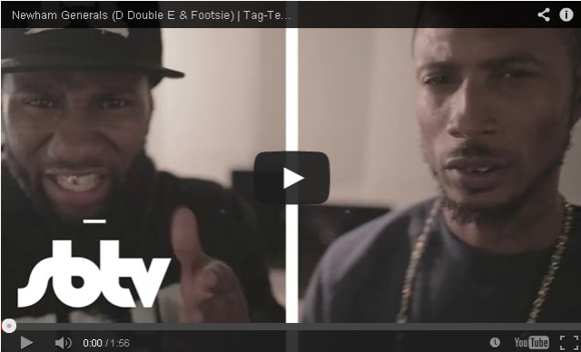 BRITHOPTV- [Freestyle Video] @NewhamGenerals ( @Foostie @DDoubleE7) – ' #TagTeam freestyle [SBTV] - #Grime