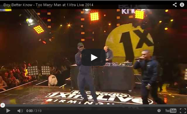 BRITHOPTV- [Live Performance] Boy Better Know – Too Many Man at 1Xtra Live 2014 - #Grime