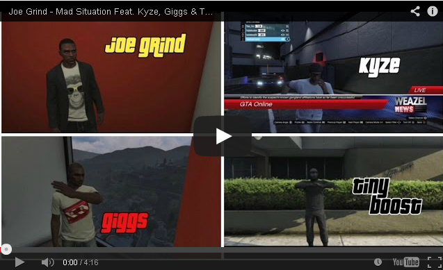 BRITHOPTV- [Music Video] Joe Grind (@JoeGrindSN1) – 'Mad Situation Feat Kyze (@kyzeOfficial), Giggs (@OfficialGiggs) & Tiny Boost' [Animated GTA Video] - #UKRap #UKHipHop