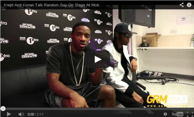 BRITHOPTV- [Video Interview] Krept And Konan talk random guy on stage at Mobo , Album, Highlights and more #1xtralive [GRM DAILY] - #UKRap #UKHipHop.
