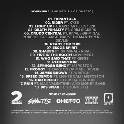 Ghetts Momentum 2  Back Cover
