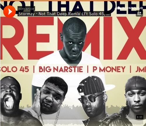 BRITHOPTV: [New Music] Stormzy-'Not That Deep Remix Ft.  Solo45, Big Narstie, P Money, and JME' |#Grime #UKRap