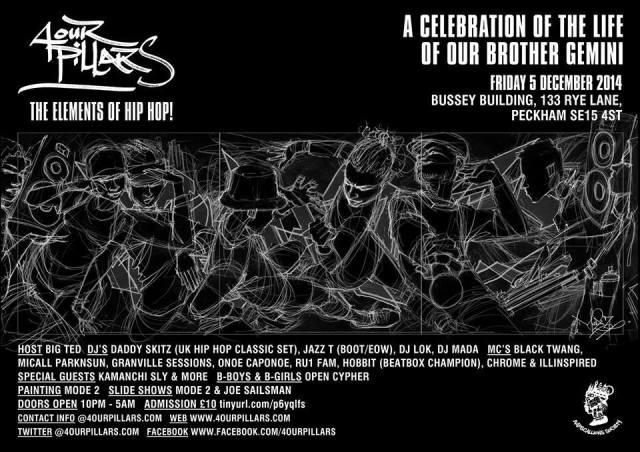 BRITHOPTV: [Event] 4 Pillars (@4pillars) Friday, December 5, Bussey Building  London, SE15 4ST | #UKRap #UKHipHop