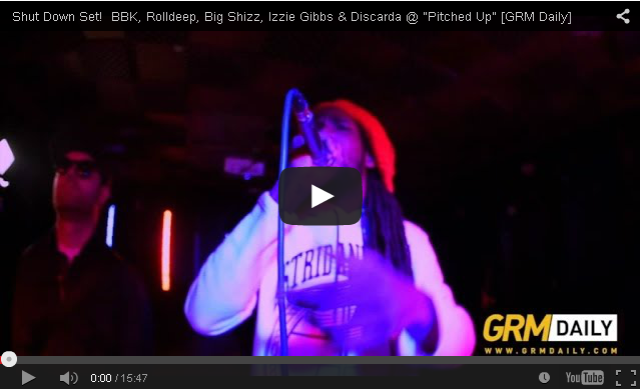 "BRITHOPTV- [Live Performance] BBK, Rolldeep, Big Shizz, Izzie Gibbs & Discarda @ ""Pitched Up"" [GRM Daily] - #Grime."