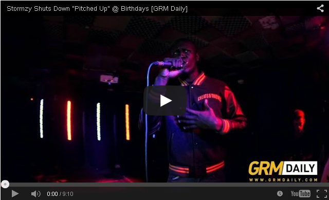 """BRITHOPTV- [Live Performance] Stormzy Shuts Down """"Pitched Up"""" @ Birthdays [GRM Daily] - #Grime"""